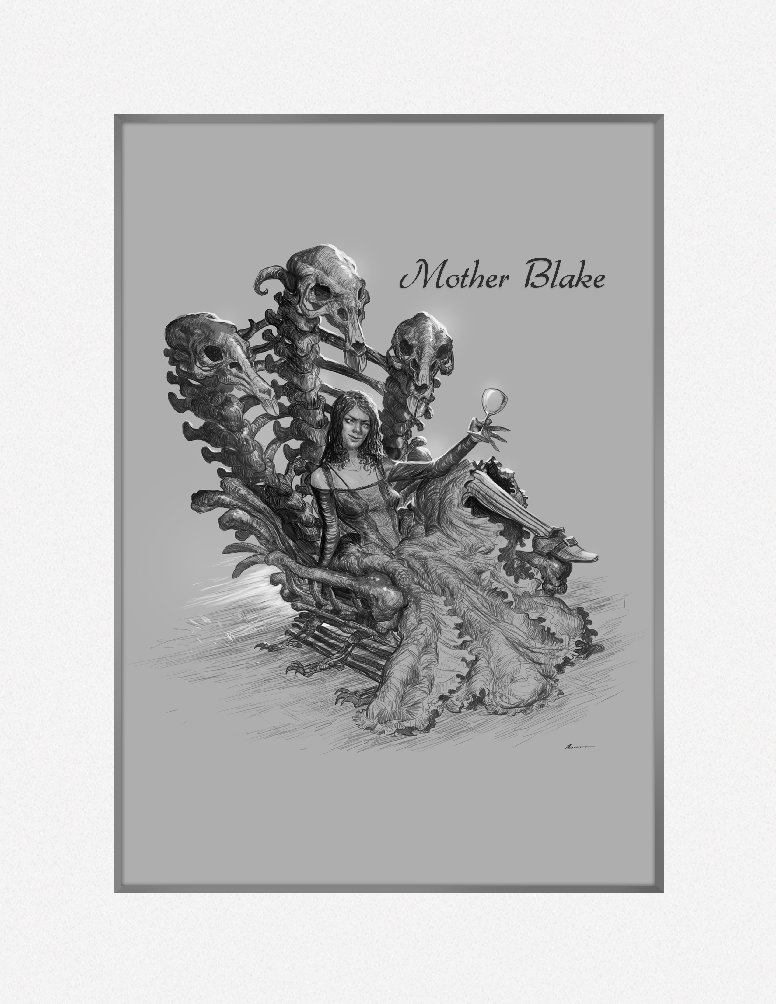 Mother Blake upon the Rat Bone Throne